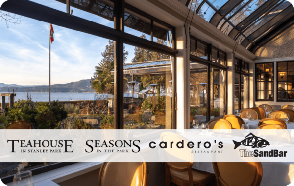 Save at Teahouse - deals on vancouver dining - teahouse gift cards on Moola