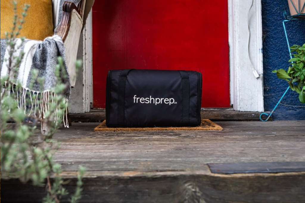 meal kit delivery bag from fresh prep