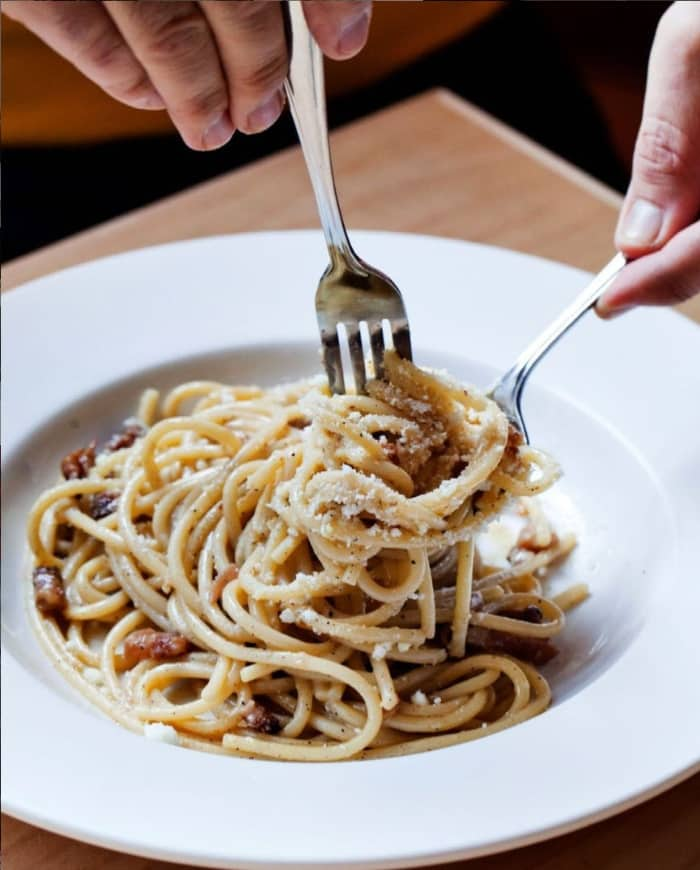 pasta at di beppe restaurant vancouver date night ideas