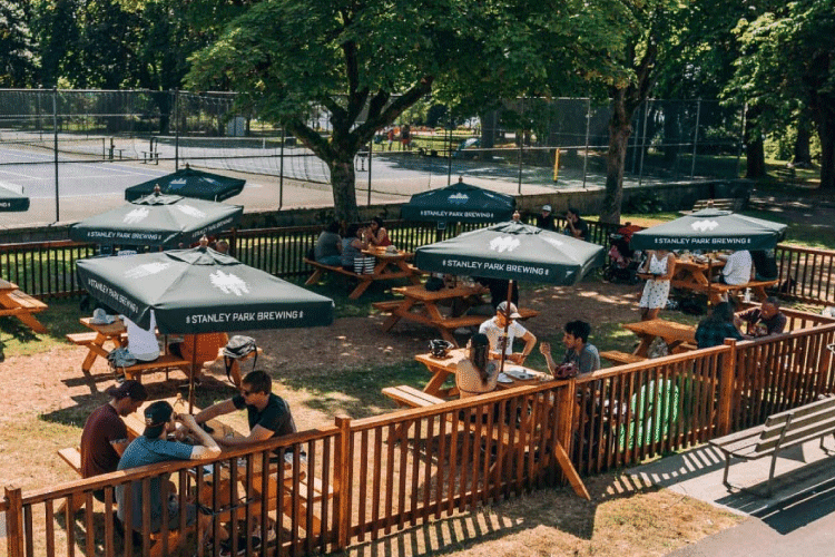 stanley park brewing patio restaurants in vancouver - change the way you shop and pay with moola