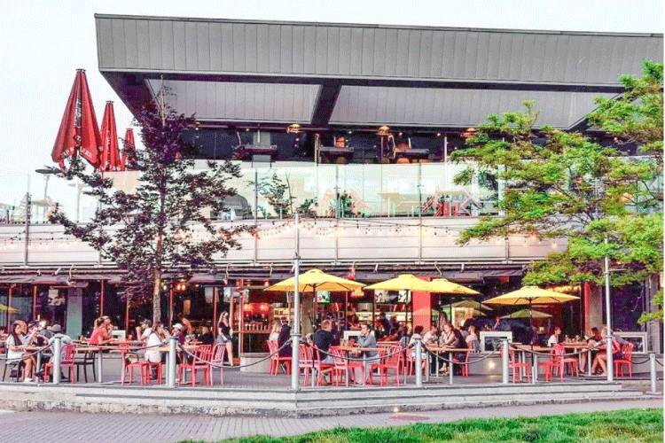tap and barrel restaurant patio in vancouver - change the way you shop and pay with moola